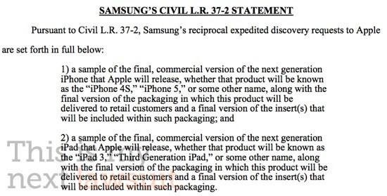 Le carte della richiesta Samsung