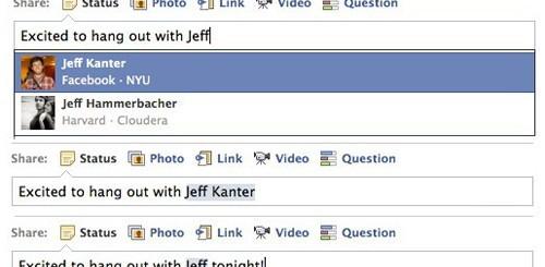 Tag facili su Facebook