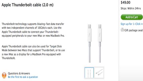 Apple Thunderbolt cavo