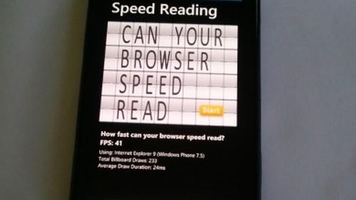 Speed Reading su Samsung WP7