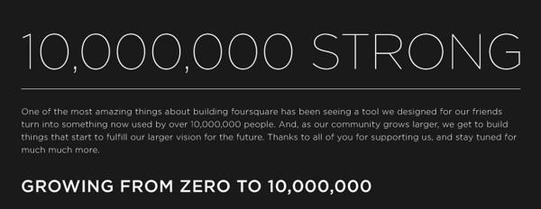 Foursquare - Infografica