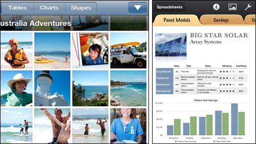 Keynote, Pages e Numbers su iPhone e iPad