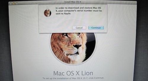 Installazione di OS X Lion