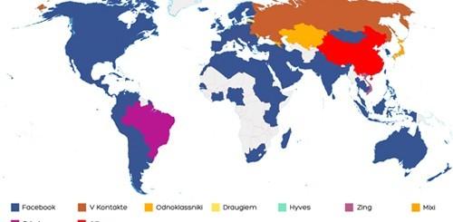 Mappa dei social network nel giugno 2011