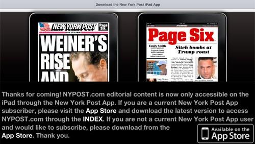 New York Post su iPad