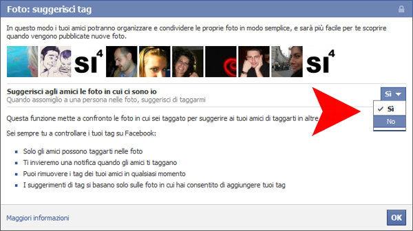 Facebook, istruzioni sul riconoscimento facciale