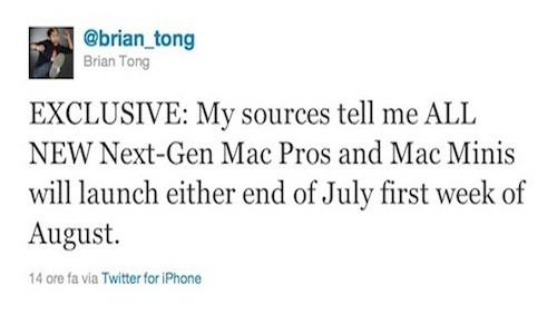 Nuovi Mac su Twitter