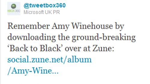 Microsoft su Amy Winehouse
