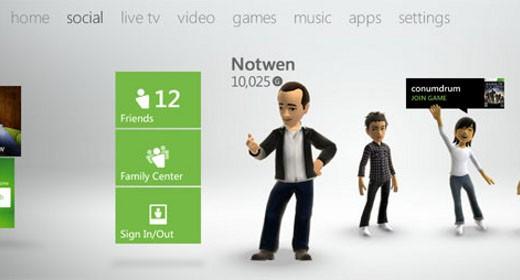 Nuova dashboard dell'Xbox 360