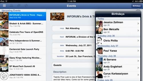Applicazione ufficiale Facebook per iPad