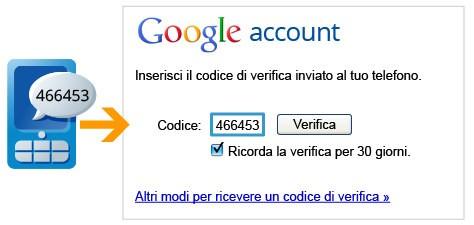 Doppio step di autenticazione sui Google Account