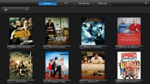 HP MovieStore su TouchPad