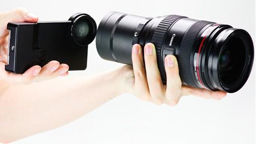 Ottica Canon EF per iPhone 4