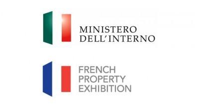 Loghi del Ministero dell'Interno e della French Property Exhibition