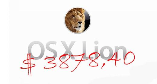 OS X Lion pagato 122 volte