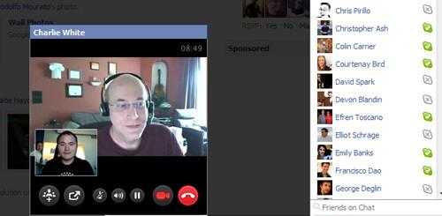 Videochat Skype su Facebook