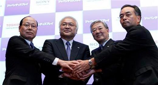 Presidenti Sony, Hitachi, Toshiba e INC