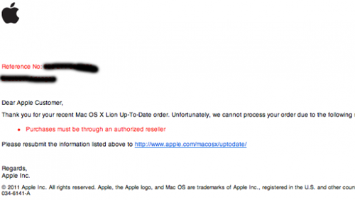 OS X Lion, Apple VS Amazon