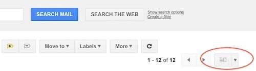 Gmail Preview Pane, modifica dell'interfaccia