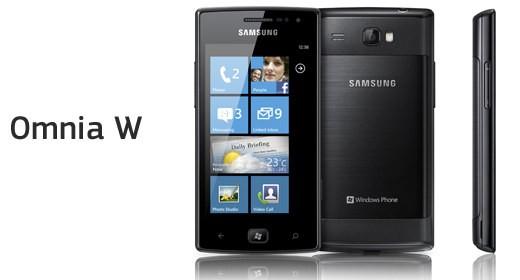 Samsung Omnia W con Windows Phone 7.5 Mango