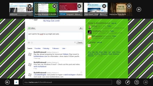 Internet Explorer 10 Metro style
