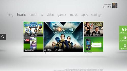 Xbox 360 nuova dashboard