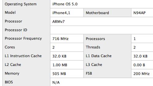 iPhone 4S, prestazioni