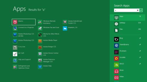 App search Windows 8