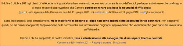 Wikipedia torna online