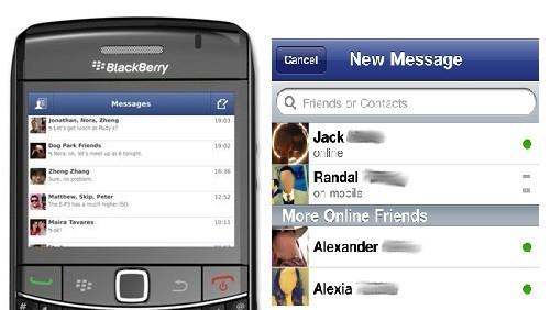 blackberry facebook messenger