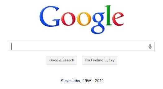 Tributo Google a Steve Jobs