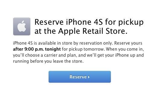 iPhone 4S, prenotazioni