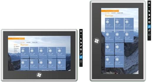 Windows 8 landscape e portrait