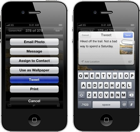 Twitter integrato su iOS 5