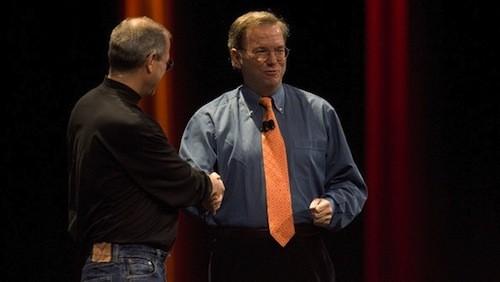 Steve Jobs e Eric Schmidt