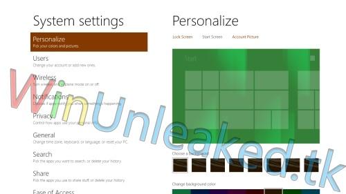 Start screen Windows 8