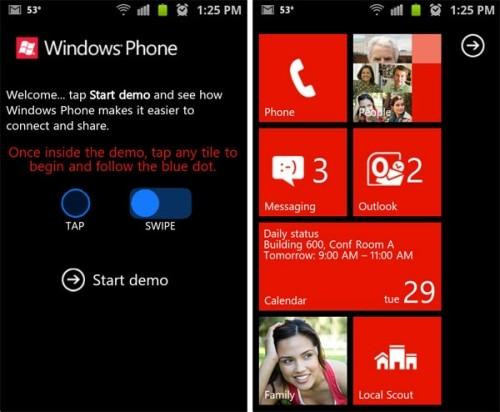 Windows Phone demo Android