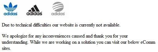 Sito Adidas sotto attacco
