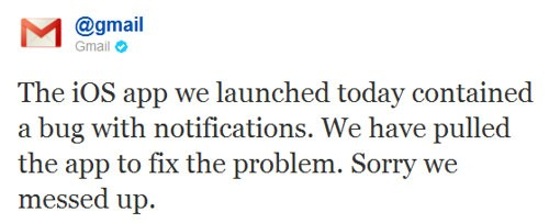 Gmail rimuove l'app