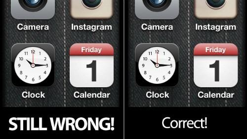 iOS 5 e la data decentrata