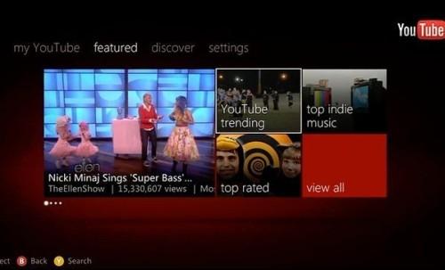 YouTube Xbox Live