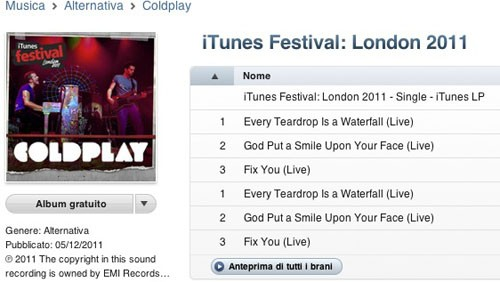 Coldplay, iTunes Festival