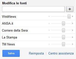 Selezione delle fonti su Google News