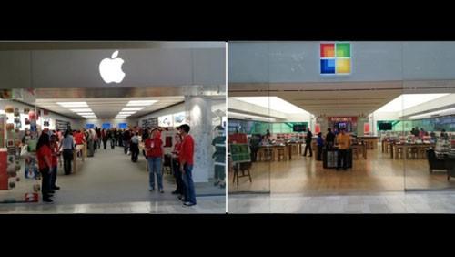 Apple Store e Microsoft Store