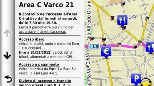 Area C Milano Garmin
