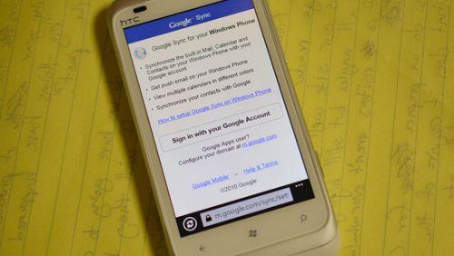 Google Sync Windows Phone