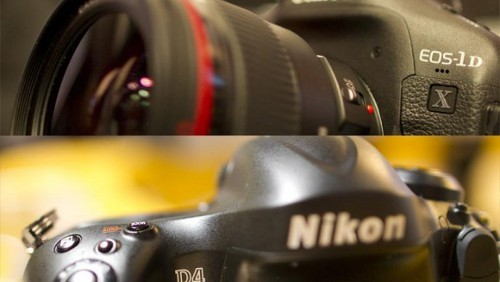 Nikon D4 Canon 1D x