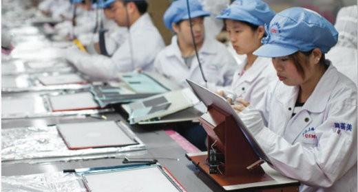 Produzione iPad Cina