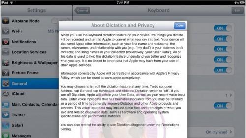 Siri su iPad