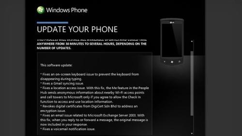 Windows Phone 7.5 Update